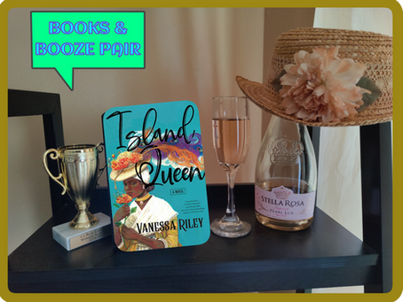 A BOOKS & BOOZE PAIR: ISLAND QUEEN AND STELLA ROSA PEARL LUX-ROSE
