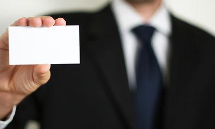 Tarjeta de presentación de negocios