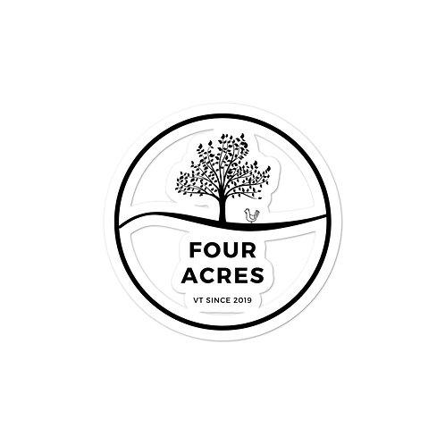 Four Acres Bubble-free stickers