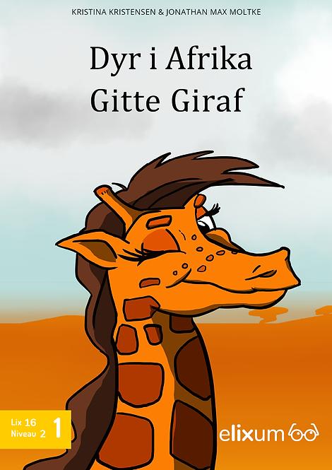 Dyr i Afrika 1 - Giraffen Gitte