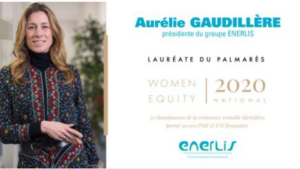 Aurélie GAUDILLERE, présidente d'ENERLIS, est désignée parmi les 50 dirigeantes françaises à la tête