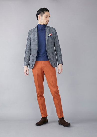 TCR1930218-67 CW dobby garment dyed tapered fit beltless