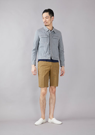 TCR1910251-54 Ice cotton united check short