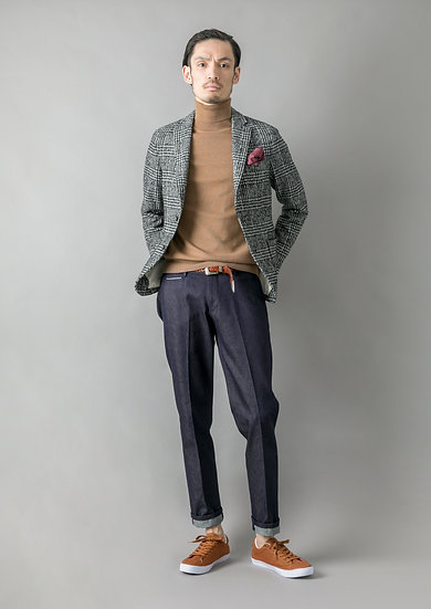 TCR1930212-39 Selvedge wool and indigo denim straight fit