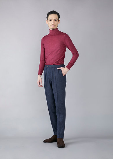 TCR1930220-39 Yarn dyed kersey jersey pleated tapered fit
