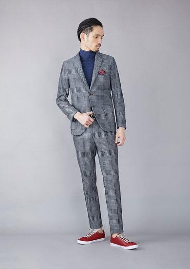 TCR1930114-37  Indigo yarn dyed Glenurquhart check jacket