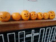 Carving our pumpkins