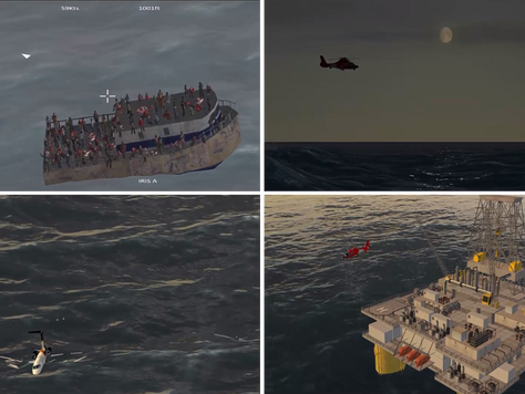 Simlat provides high-fidelity simulation for UAS based maritime application
