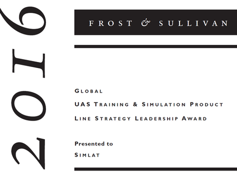 Frost & Sullivan Applauds Simlat's Global Leadership as a Provider of UAS Training & Simulat