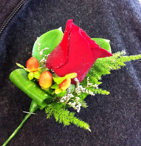 Red Buttonhole