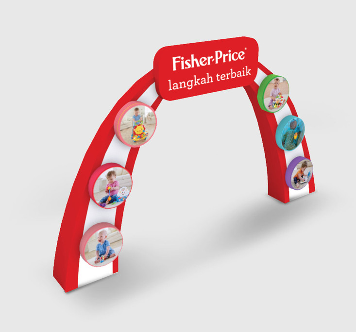 Fisher Price Baby Fair Welcome Gate 3D Implementation