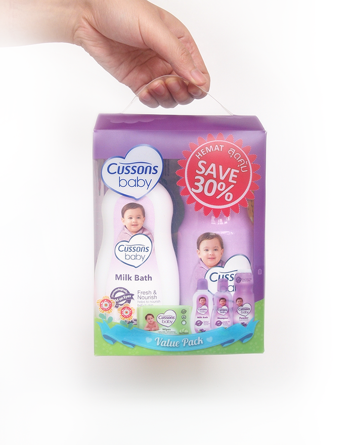 Cussons Baby Packaging Purple