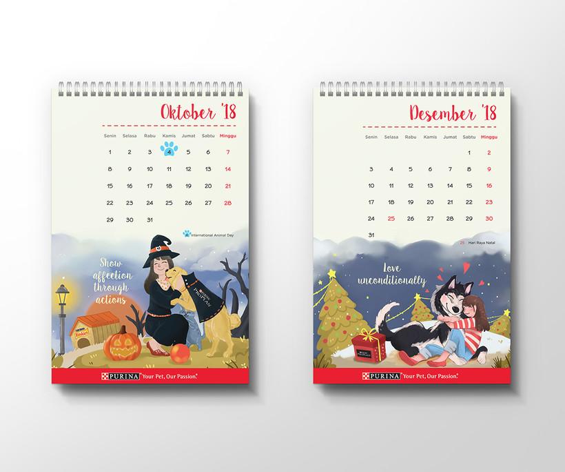 Purina Calendar Halloween and Christmas Design