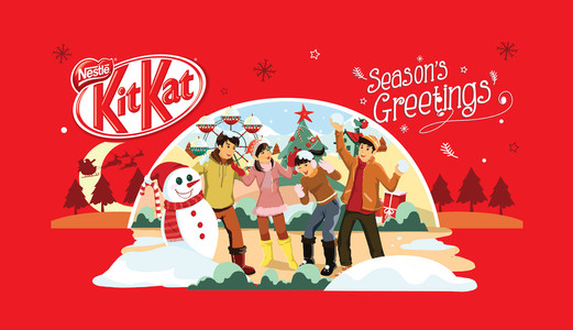 KitKat Christmas Sleeve Design