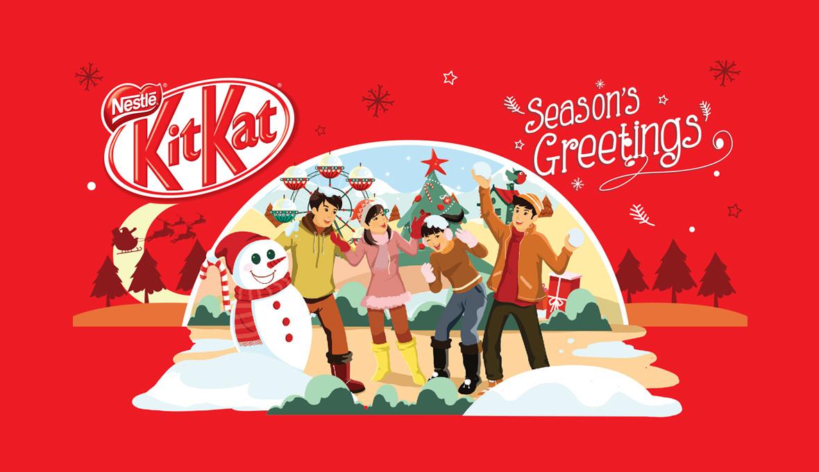 KitKat Christmas Sleeve Design