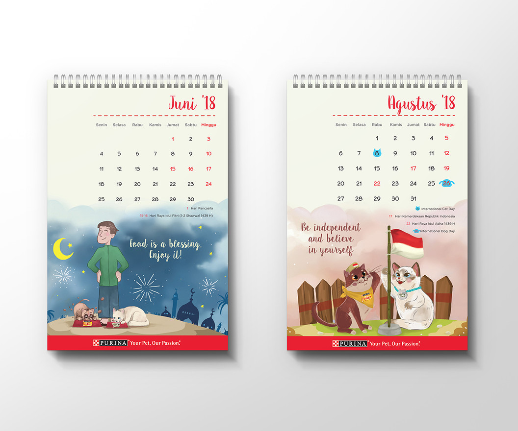 Purina Calendar Eid Al-Fitr and Independence Day Design