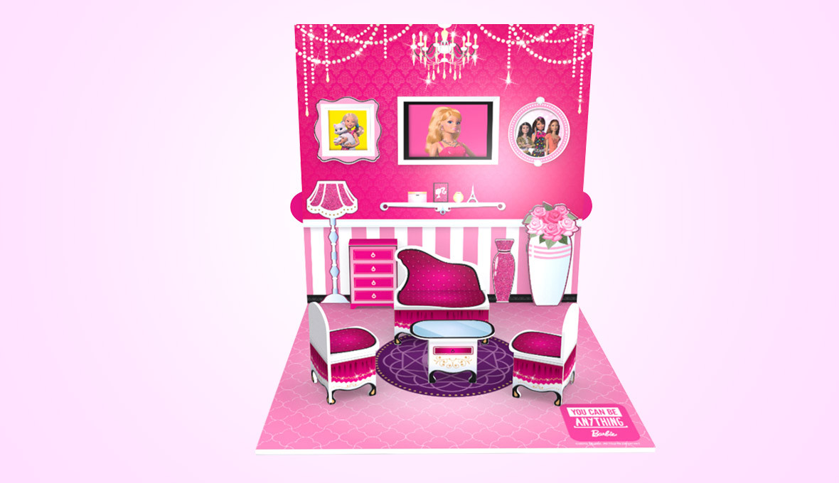 Barbie Pop Up House Design Front Angle