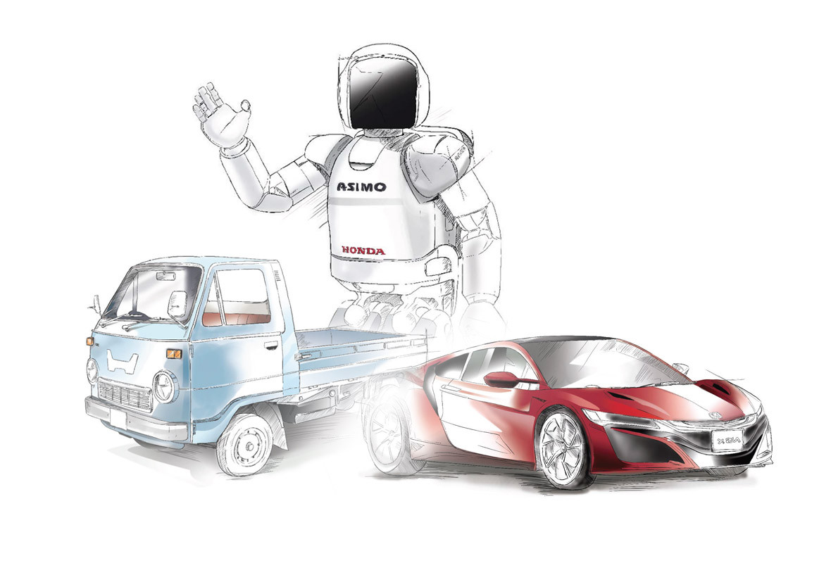 Honda Product Illustrations