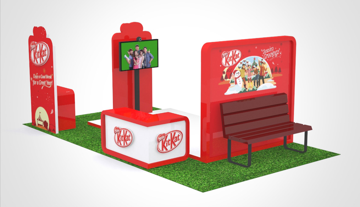KitKat Christmas Booth 3D Implementation