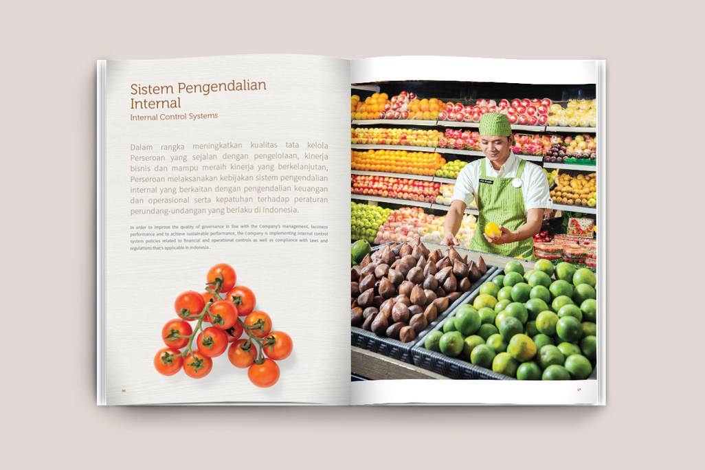 Ranch Market Annual Report Layout Design