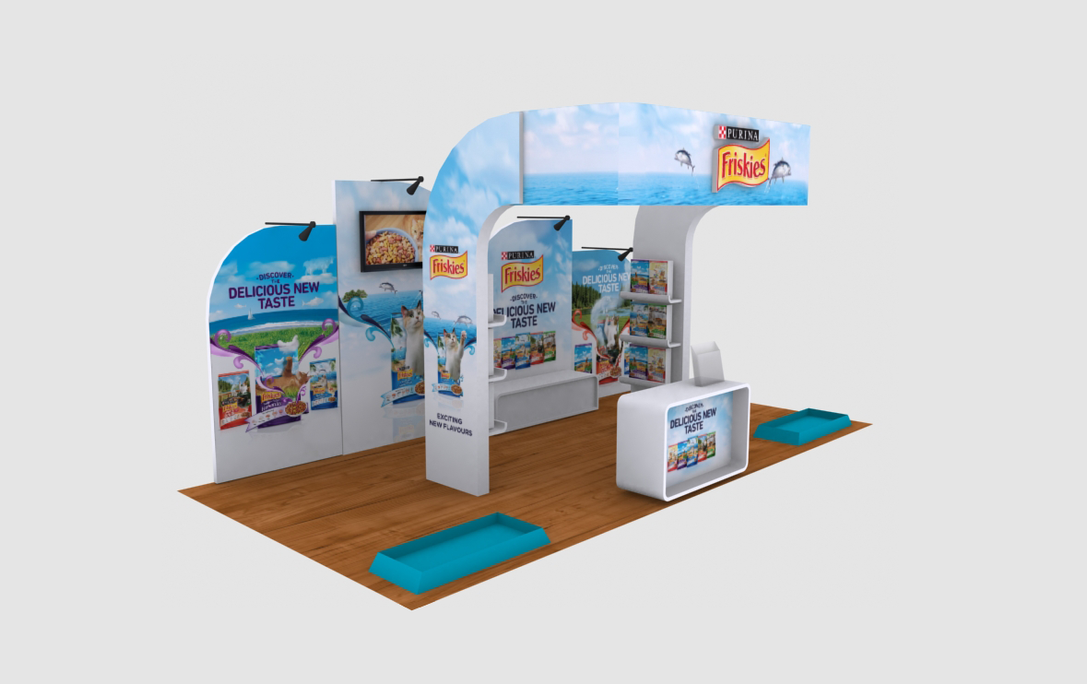 Friskies Large Event Booth 3D Implementation Side View