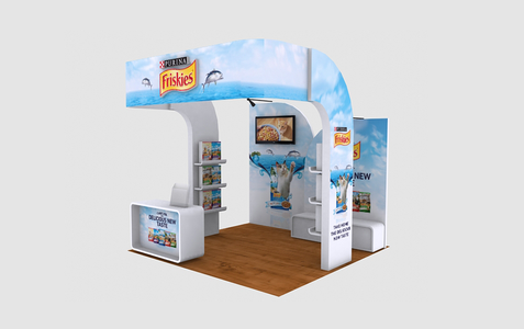 Friskies Small Event Booth 3D Implementation Front View