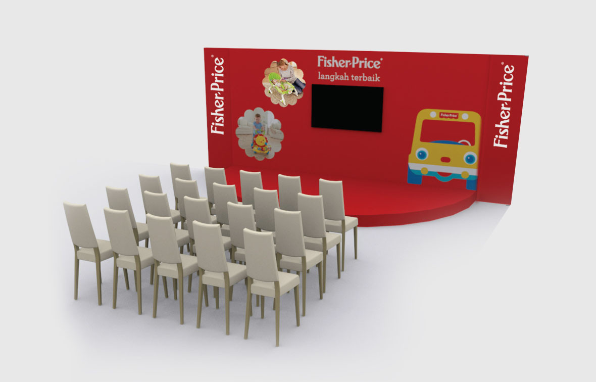 Fisher Price Baby Fair Stage 3D Implementation