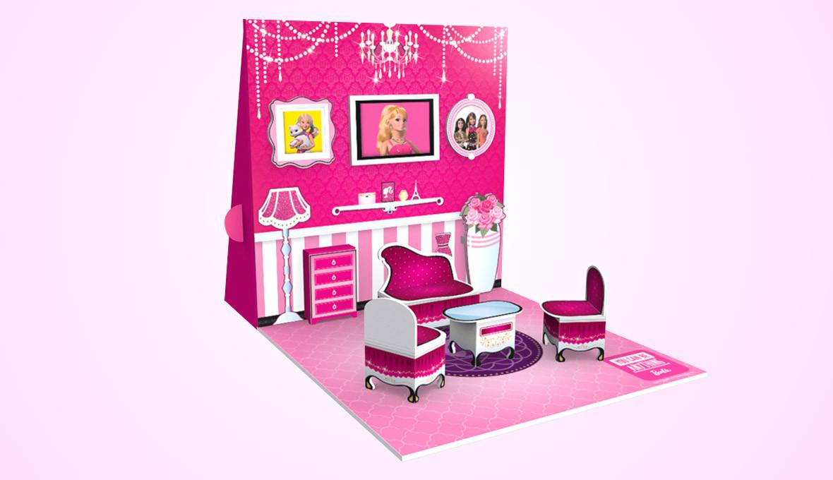 Barbie Pop Up House Design Side Angle
