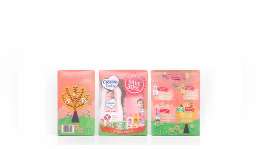 Cussons Baby Packaging Pink