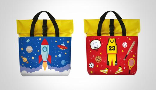 Dancow Fortigrow Illustration Bag Blue and Red