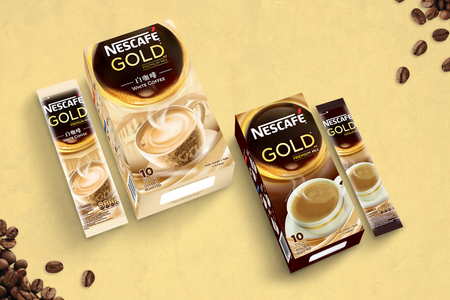 Nescafe Gold Box and Sachet Design
