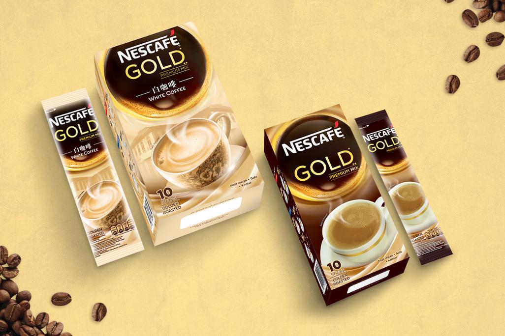 Nescafe Gold Box and Sachet Design