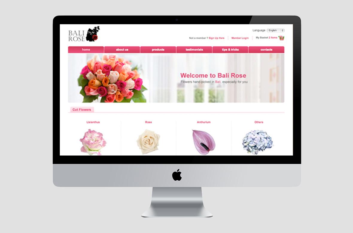 Bali Rose Website Homepage Preview