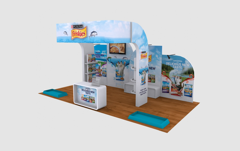 Friskies Large Event Booth 3D Implementation Front View