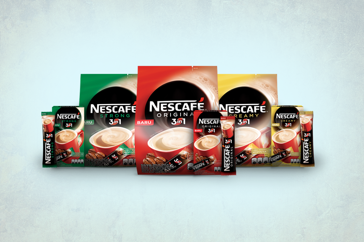 Nescafe 3 in 1 Packaging Design