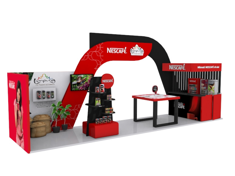 Nescafe International Coffee Day Booth 3D Implementation