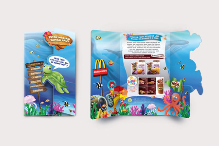 McDonald's Bawah Laut Brochure Birthday Party Design
