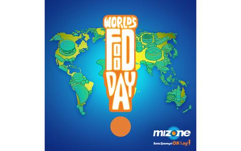 Mizone Worlds Food Day Design