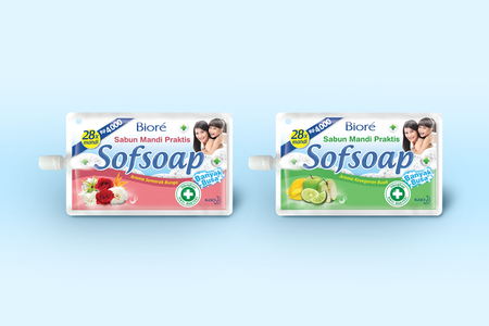 Sofsoap Aroma Bunga and Buah Packaging Design