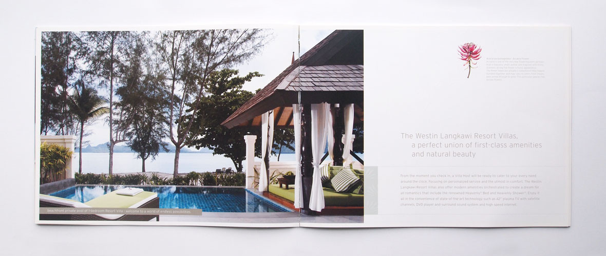 The Westin Langkawi Catalogue Page Design
