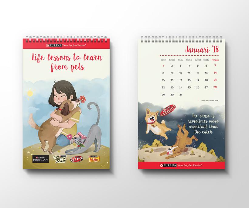 Purina Calendar Frisbee Design