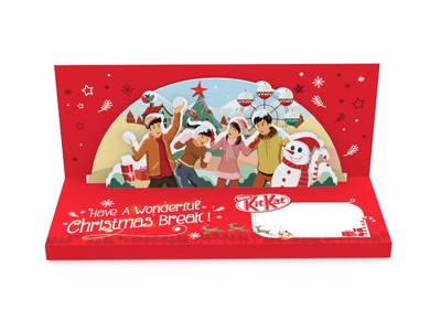KitKat Sleeve Christmas Design Front View