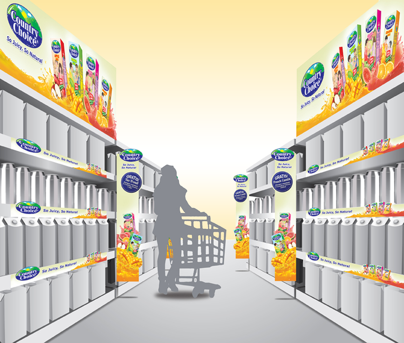 Country Choice Product Shelf 3D Implementation