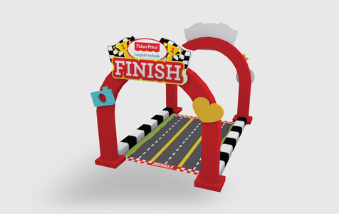 Fisher Price Baby Fair Finish Booth 3D Implementation