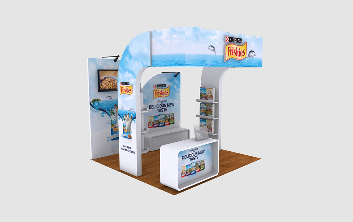 Friskies Small Event Booth 3D Implementation Side View