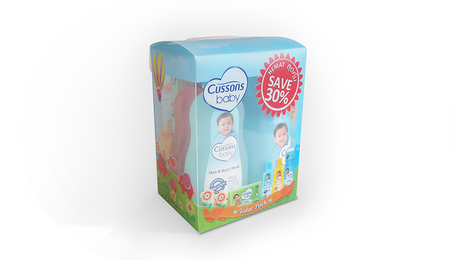 Cussons Baby Packaging Blue