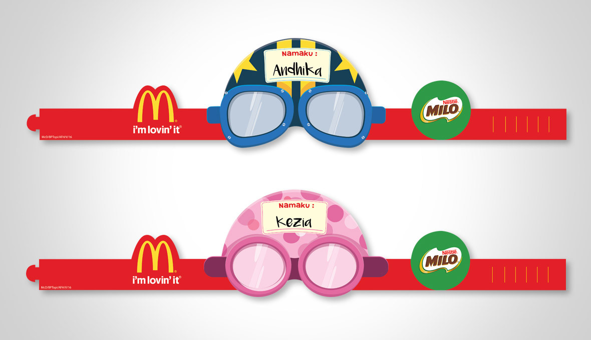 McDonald's Mobil Balap Birthday Party Hat Design