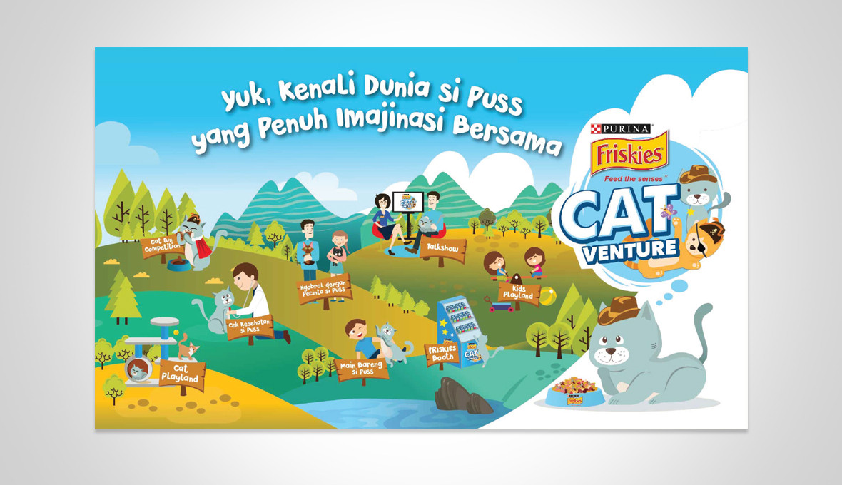 Friskies Mobile Catventure Park Illustration