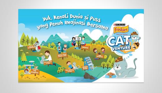 Friskies Mobile Catventure Park Illustration