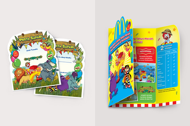 McDonald's Birthday Party Brochure Design